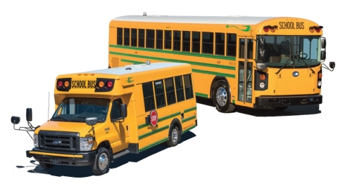 Blue Bird Delivered 7 All American RE Electric Buses and one Micro Bird G5 Electric Bus to customers ...