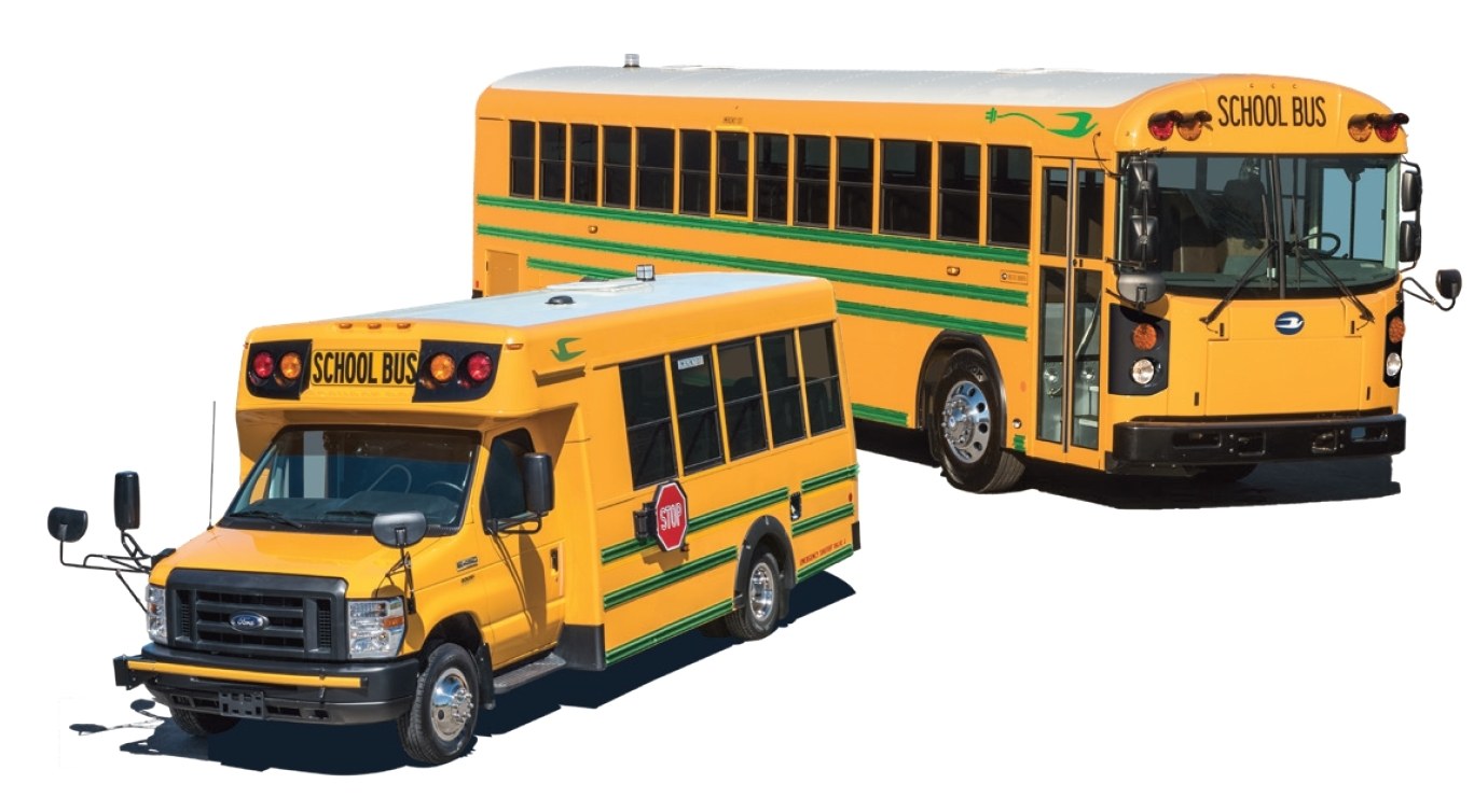 Bluebird School Bus >> First Blue Bird Electric School Buses Delivered In North