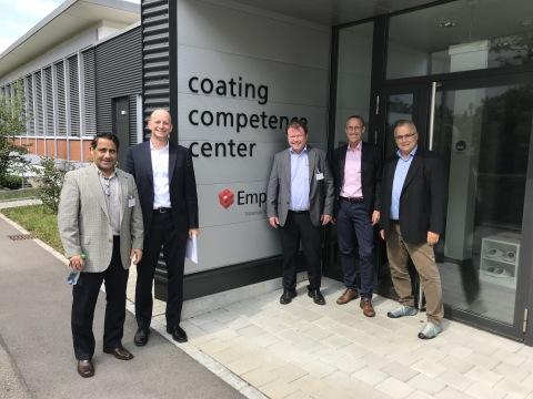 Dave Ramahi and Urs Berger, Optomec. Harald Moder- Merconics, Lars Sommerhäuser and Pierangelo Gröni ...