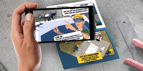 To inspire the next generation of manufacturing, PTC developed an AR-enabled comic book, powered by Vuforia, that showcases the latest technology deployed in leading factories. Accessible through the Smart MFG mobile app, the interactive experience provides a unique glimpse into a career in today's modern factories and demonstrates that manufacturing in a smart, connected world is filled with technology, advanced skills, and creativity. (Photo: Business Wire)