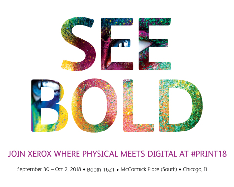 From workflow software to personalization solutions, Xerox is giving customers new and innovative ways to bridge the physical and digital worlds this year at #PRINT18. (Graphic: Business Wire)