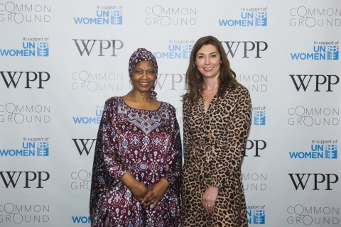 Phumzile Mlambo-Ngcuka, Executive Director, UN Women and Lindsay Pattison, Chief Transformation Officer, WPP announce industry-leading partnership with UN Women to help achieve gender equality through the power of creativity (Photo: Business Wire)