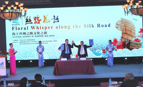 "A Memorandum of Understanding on ""Co-operation and Protection of the Maritime Silk Road Cultural Heritage and Sharing of Achievements"" was signed by Mr. Lu Zhi Qiang, Director General of Administration of Culture, Radio, Film, Television, Press and Publication of Guangzhou Municipality and Mr. Andreas Papacharalambous, Mayor of Strovolos Municipality (Photo: Business Wire)"