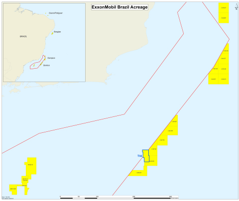 ExxonMobil's acreage in Brazil. (Graphic: Business Wire)