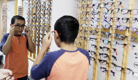 Christopher Perez, 9, receives a no-cost comprehensive eye exam as part of an eye health event hosted at the Eye Care 4 Kids clinic Saturday, Sept. 29, 2018, in Las Vegas. The event is part of a nationwide grant program by UnitedHealthcare. Eye Care 4 Kids in Nevada received a $5,000 grant for the event (Photo: Isaac Brekken).