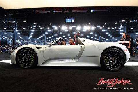 Barrett-Jackson ended the 2018 auction cycle in an incredible way at the 11th annual event in Las Vegas with record sales, celebrity guests from the entertainment and sports industries, and a celebratory final stop of the company's first yearlong charity campaign, Driven Hearts. (Photo: Business Wire)