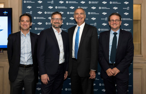 C-band Alliance - from left Daniel Goldberg (Telesat) - Steve Collar (SES) - Stephen Spengler (Intelsat) - Rodolphe Belmer (Eutelsat) (Photo: Business Wire)
