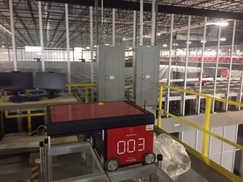 One of 63 robots at the new Pitney Bowes Super Center in Greenwood, Indiana (Photo: Business Wire)