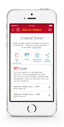 Wells Fargo Launches Control Tower, New Digital Experience for Customers Nationwide (Graphic: Business Wire)