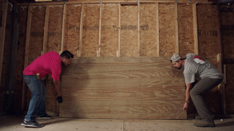 In September, T-Mobile employees joined forces with Team Rubicon volunteers to rebuild damaged homes in Texas. (Photo: Business Wire)