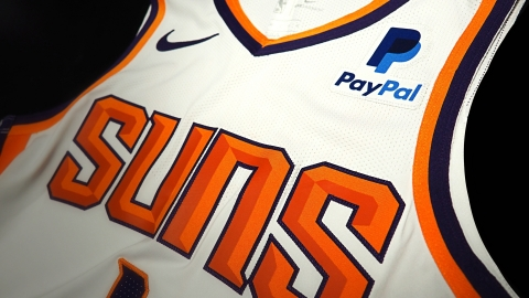 PayPal is the first-ever jersey patch partner of the Phoenix Suns. The PayPal logo will appear prominently on the front left of Suns jerseys starting on Oct. 17, when the Suns tip off the 2018-19 regular season. (Photo: Business Wire)