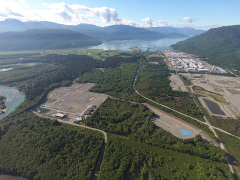 An aerial view of the LNG Canada site in Kitimat, British Columbia, Canada (Photo: Business Wire)