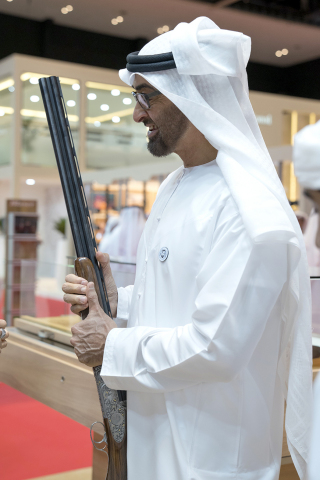 His Highness Sheikh Mohammed bin Zayed during his visit to ADIHEX 2018 (Photo: AETOSWire)