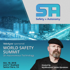 Velodyne LiDAR sponsors the World Safety Summit on Autonomous Technology, hosted by Jamie Hyneman, former host and executive producer of MythBusters. (Graphic: Business Wire)