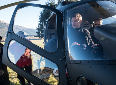 Director Christopher McQuarrie and Tom Cruise on the set of MISSION: IMPOSSIBLE - FALLOUT, arriving  ...