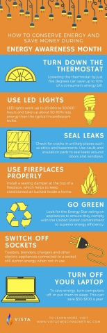 7 Ways Vista Suggests to Conserve and Save During National Energy Awareness Month (Graphic: Business ...