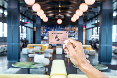The new American Express Gold Card in the limited edition rose gold Card design (Photo: Business Wire)