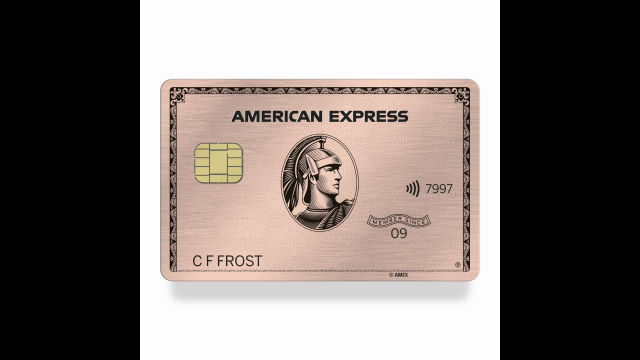 The new American Express Gold Card and limited edition rose gold Card