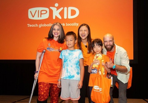 Teachers surprise their longtime students from China on stage at VIPKid's Journey conference in Orlando, Florida. (Photo: Business Wire)