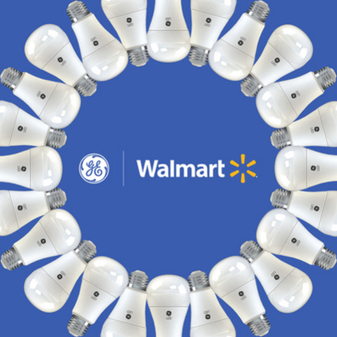 GE Lighting Helps Walmart on Sustainability Goals, Converts Shoppers to LED (Graphic: GE)