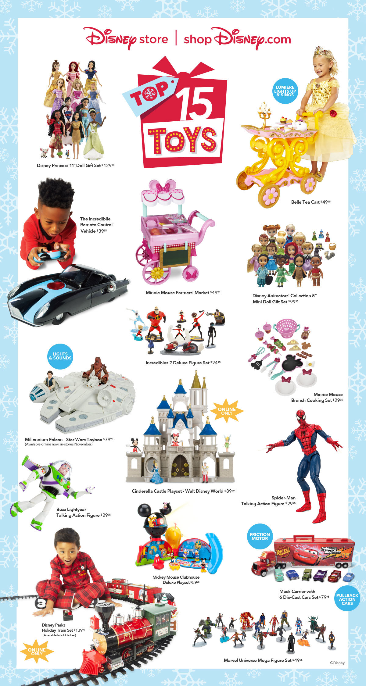 Disney Store And Shopdisney Reveal The Top 15 Holiday Toys List