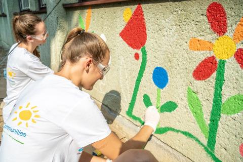 Společnost PPG dokončila projekt COLORFUL COMMUNITIES v mateřské školce Pšeník v Brně v České republice. (Photo: Business Wire)