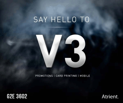 Visit Atrient at G2E booth 3602 on October 9-11 to preview V3. (Graphic: Business Wire)