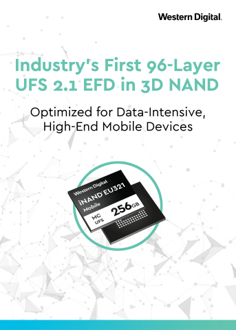 Western Digital Launches Industry's First 96-Layer UFS 2.1 EFD in 3D NAND (Graphic: Business Wire)