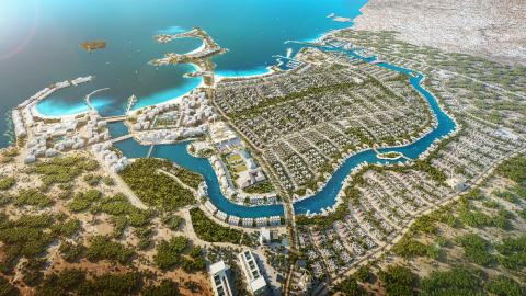 The AlJurf Masterplan, situated along the beautiful coastline of Sahel Al Emarat between Abu Dhabi and Dubai (Photo: AETOSWire)