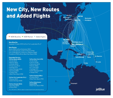 JetBlue announced a series of network changes that will advance its strategy in multiple focus cities, making the airline even more relevant in its key markets and ensuring its network is optimized to meet customer demand. (Photo: Business Wire)