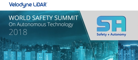World Safety Summit on Autonomous Technology takes place on Thurs. Oct 18 at Levi's Stadium in Santa Clara, Calif. (Graphic: Business Wire)