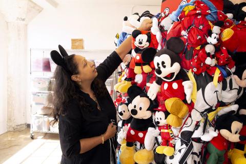 "Shinique Smith will debut her 'Mickey: The True Original Exhibition' piece, ""Bale Variant No. 0026,  ..."