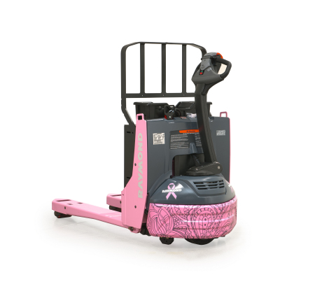 Raymond Handling Auctions 5th Custom Pink Pallet Jack for Breast Cancer Charities (Photo: Business Wire)