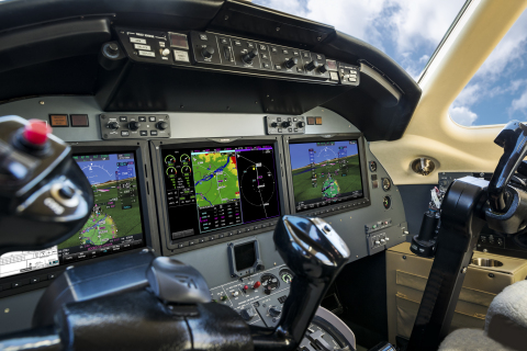 G5000 in a Citation Excel business jet. (Photo: Business Wire)