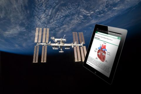 NASA is piloting the use of UpToDate on board the International Space Station.