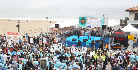 The 9th annual Skechers Pier to Pier Friendship Walk raised more than $1.8 million for children with special needs and education. (Photo: Business Wire)