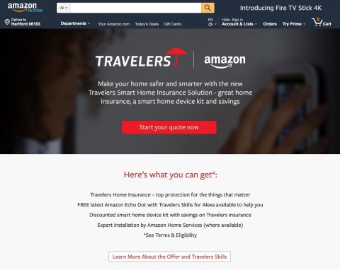 The Travelers digital storefront on Amazon (Graphic: Business Wire)
