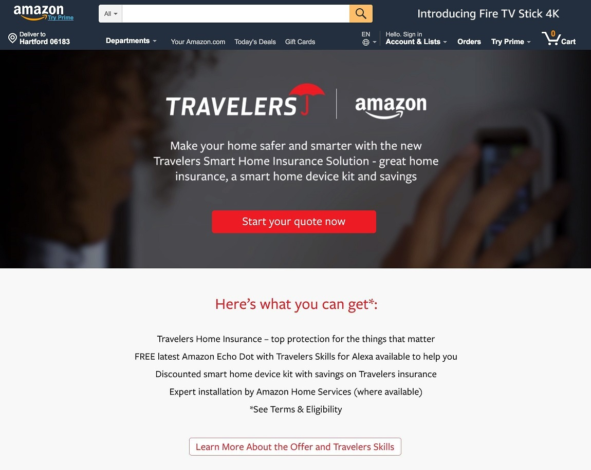 Travelers Teams Up With Amazon To Provide Smart Home Solutions House Wiring For Tv Full Size