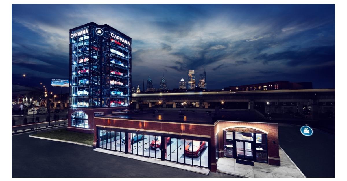 Carvana Unveils its Newest Car Vending Machine in
