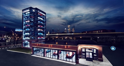 Carvana has launched its Philadelphia Car Vending Machine, the 14th of its kind in the country. This new location joins counterparts in Texas, Tennessee, Florida, North Carolina, Maryland and Arizona. (Photo: Business Wire)