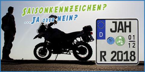 MotorradreifenDirekt.de klärt auf, ob ein Saisonkennzeichen wirklich die beste Wahl ist (Photo: Busi ...