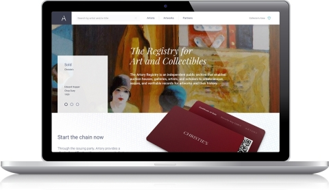 Artory Collaborates with Christie's on an Industry First: Registration of Major Art Collection Sale with Secure Blockchain Technology (Photo: Business Wire)