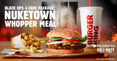 BURGER KING(R) RESTAURANTS PARTNERS WITH DOORDASH AND ACTIVISION TO PROVIDE FANS WITH ULTIMATE CARE  ...