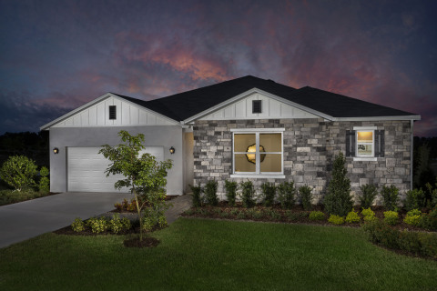 New KB homes now available in Clermont. (Photo: Business Wire)