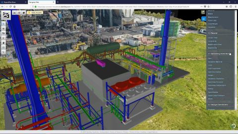 PlantSight brings together data from multiple 3D models including reality meshes in one portal view, allowing rapid access to information that has previously been inaccessible.