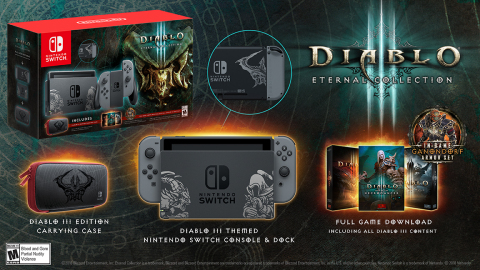 The devil is literally in the details of a new Nintendo Switch bundle featuring Blizzard's legendary game Diablo III: Eternal Collection, launching exclusively at GameStop on Nov. 2. (Graphic: Business Wire)