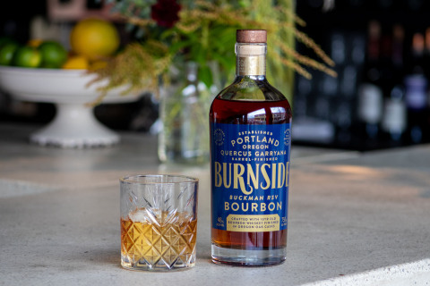 Burnside Buckman RSV Bourbon features a rich dark umber, henna color; with a bold spiced fruit bread with citrus and peppercorn and faint aromatics of apple fruit and wood. (Photo: Business Wire)