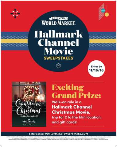 "COST PLUS WORLD MARKET PARTNERS WITH HALLMARK CHANNEL TO CELEBRATE THE ""COUNTDOWN TO CHRISTMAS"" (Graphic: Business Wire)"