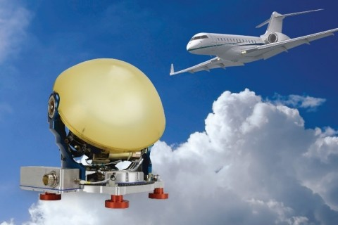 Astronics AeroSat is introducing its next generation of tail-mounted SATCOM antenna systems for use on business aircraft. (Photo: Business Wire)