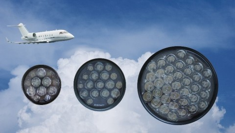 The FAA has approved Astronics' next-gen LED landing and taxi lights for use on any commercial aircraft. (Photo: Business Wire)